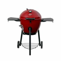 Char-Griller E14822 Premium Red Kettle Charcoal Grill and Sm