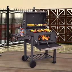 Charcoal Barbecue Grill Outdoor Patio Heavy Duty with Foldab