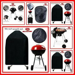 """Charcoal BBQ 18.5"""" Round Cover Kettle Grill Black Premium Ou"""