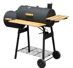 Charcoal BBQ Grill Smoker Combo Barbecue Portable Patio Gard
