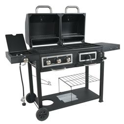 Charcoal Combo GRILL BBQ Dual Fuel Gas Barbecue Smoker Outdo