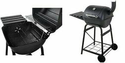 "Charcoal Grill 26"" Barrel BBQ Smoker Barbecue Patio Backyard"