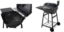 "Charcoal Grill 26"" Barrel BBQ Smoker Barbecue Patio Backyard"