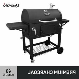 Charcoal Grill with Adjustable Charcoal Tray and Cast Iron C