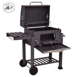 COSTWAY Charcoal Grill Barbecue BBQ Grill Outdoor Patio Back
