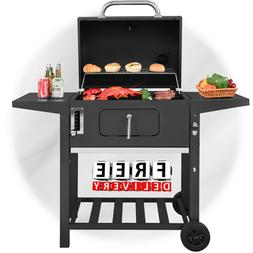 Charcoal Grill Camping BBQ Outdoor Backyard Offset Barbecue