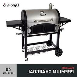 charcoal grill dual chamber barbecue hamburger cooker