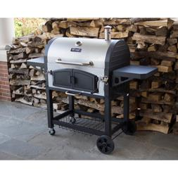 Charcoal Grill Premium Dual Zone Stainless Steel Black Heat