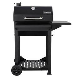 Nexgrill Charcoal Grill Side Shelf Freestanding Cart Black O