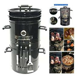 Charcoal Grill Smoker Cooking Tool Table Outdoor Patio BBQ B