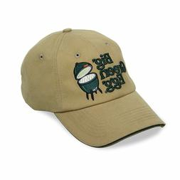 Big Green Egg Charcoal Grill Tan Twill Base Ball Hat with Em