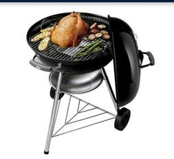 Charcoal Smoker Grills with Round Plated-Steel Cooking Grate
