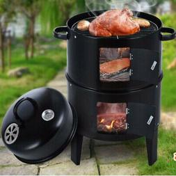 charcoal water smoker grill outdoor bbq barbecue