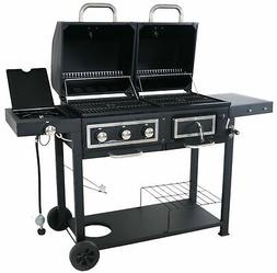 combination charcoal gas grill propane cooking barbecue