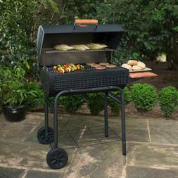 Charcoal Grill and Smoker Combo w Shelf Deck BBQ Barbecue Co