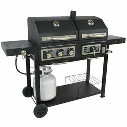 Combo Grill Gas - Charcoal Hybrid Outdoor Cooking BBQ Barbec