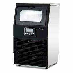 88LBS Built-in Commercial Ice Maker Machine Ice Cube Stainle