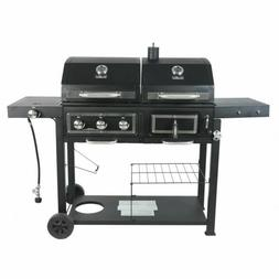 Dual Fuel Combination Charcoal/Gas Grill New Free Shipping