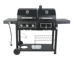 RevoAce Dual Fuel Gas & Charcoal Combo Grill, Black Stainles