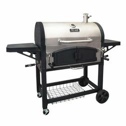 Dyna-Glo Barrel Charcoal Grill with Side Shelves