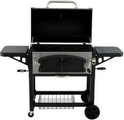 Dyna Glo Charcoal BBQ Grill Smoke Dual Zone Premium Cart Sta