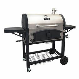 Dyna-Glo DGN576SNC-D Dual Chamber Charcoal BBQ Grill - Stain