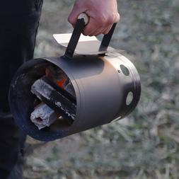 Fast Charcoal Ignition Barrel Carbon Stainless Steel Stove B