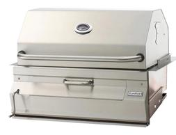 Fire Magic Built-In Stainless Steel Charcoal Grill 24 Inch A