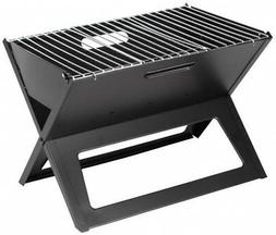 Sturdy Portable 13 In. Charcoal Grill in Black Foldable Outd