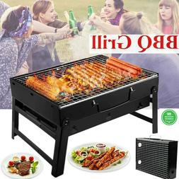 Foldable BBQ Barbecue Charcoal Grill Outdoor Garden Camping