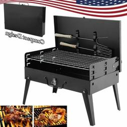 Foldable Portable Compact Charcoal BBQ Grill Outdoor Camping