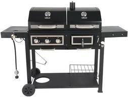 Fuel Gas & Charcoal Chef Combo Grill Smoker Best BBQ Non Sti