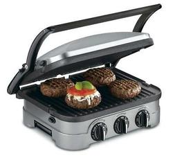 Cuisinart GRID-8 5-in-1 Griddle Contact Counter-top Grill Pa