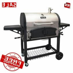 GRILL CHARCOAL BBQ DUAL Chamber XLarge Outdoor Backyard Barb