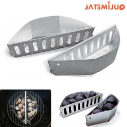 Grill Parts Heavy Duty Stainless Steel Charcoal Baskets for