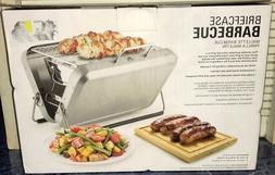 Grill Portable BBQ Briefcase By: Kikkerland Color: Silver Hi