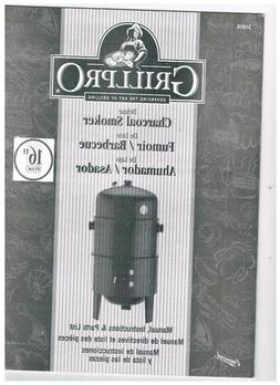 """Grill Pro 16"""" Deluxe Charcoal Smoker and Grill 31816 NIB *8"""