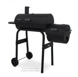 Grill Smoker BBQ Combo Charcoal Steel Firebox Slow Cooker Ba
