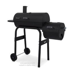 Grill Smoker BBQ Combo Charcoal Steel Firebox Slow Cooker Ba