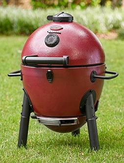 Griller Cooker Charcoal Grill Red Patio Lawn Garden Grills O