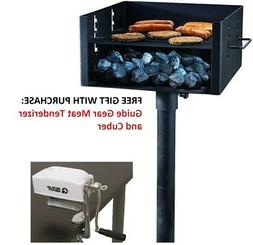 Guide Gear Heavy-Duty Park Style Grill Large Charcoal Bbq Ou
