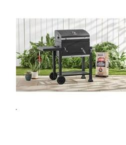 Expert Grill Heavy Duty 24-Inch Charcoal Grill with Black Po