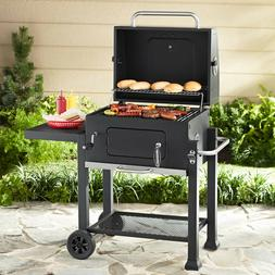 Expert Grill Heavy Duty 24-Inch Charcoal Grill Black Foldabl