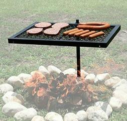 Texsport Heavy Duty Barbecue Swivel Grill for Outdoor BBQ ov