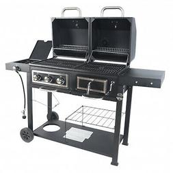 Heavy Duty Dual Fuel Gas Charcoal Combo Grill BBQ Barbecue S