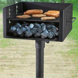 Heavy Duty Large Park Style Charcoal Grill Bbq Camping Cook