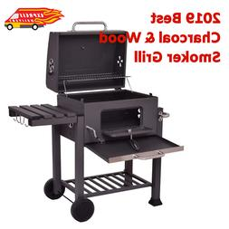 Heavy Duty Outdoor Wood & Charcoal Grill Smoker Barbecue BBQ