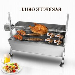 Hog Roast Machine Stainless Steel Charcoal Barbecue BBQ Gril