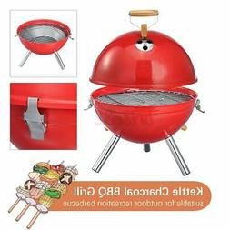 Iron BBQ Kettle Grill Portable Outdoor Camping Travel Charco