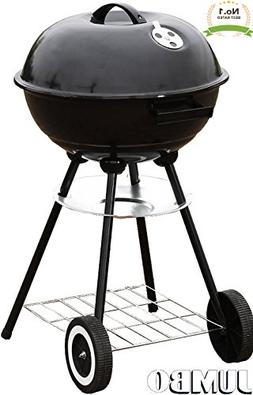 "Unique Imports #1 Jumbo Original Kettle 22"" Charcoal Grill O"